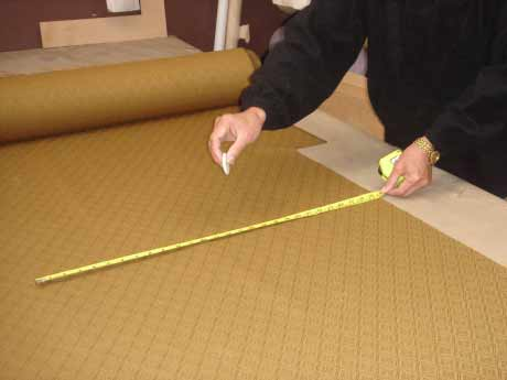 Cutting material to measure